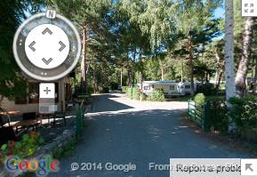 Le camping est dans Google Street View !